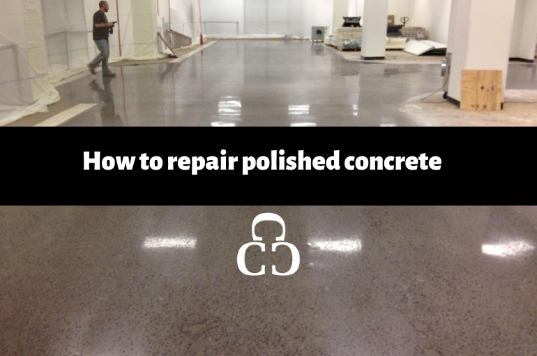 How to repair polished concrete