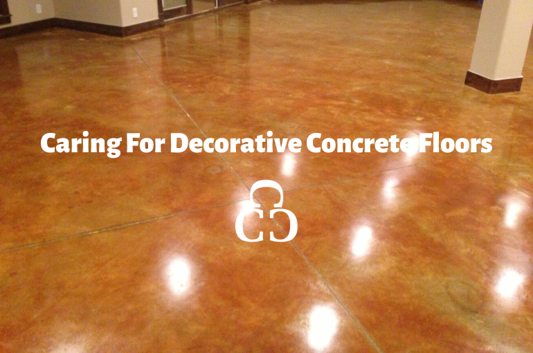 Caring For Decorative Concrete Floors