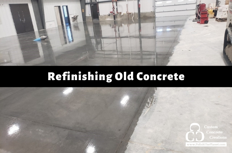 UPDATED: Refinishing old concrete