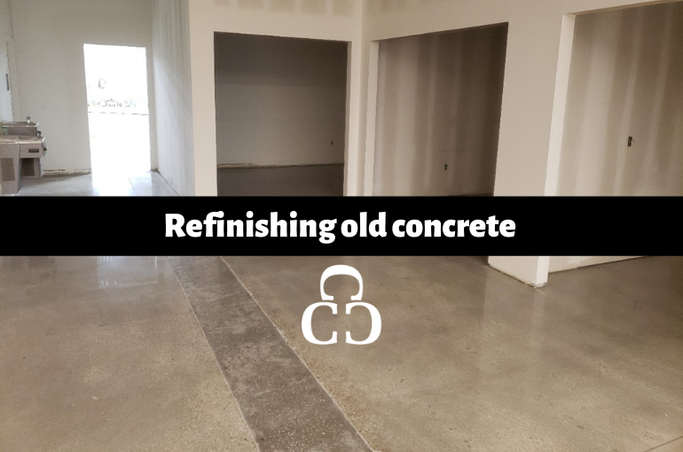 Refinishing old concrete
