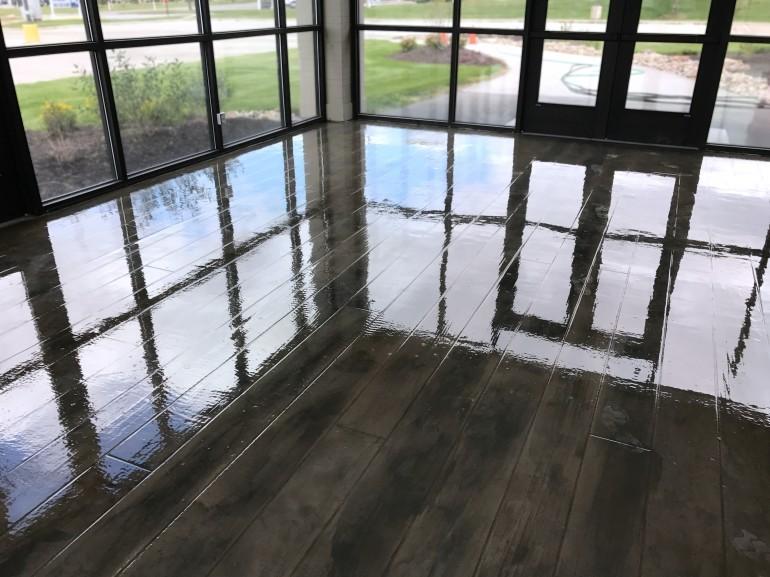 Commercial Installation Highlight - Candlewood Church Woodcrete Flooring Omaha, Nebraska