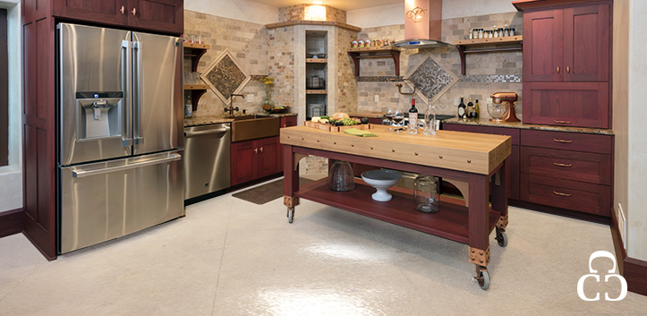 Polished concrete floors for kitchens