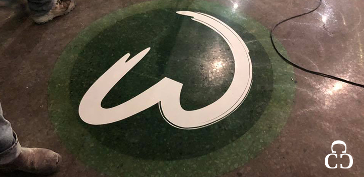 Wahlburgers concrete floors installation project