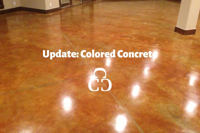 Update: Colored Concrete
