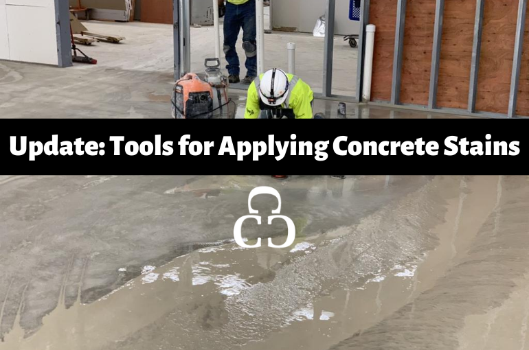 Update: Tools for Applying Concrete Stains