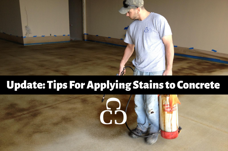 Update: Tips for Applying Stains to Concrete