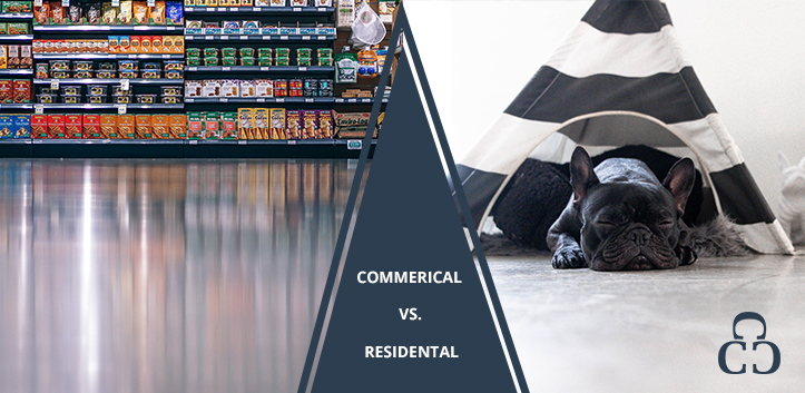 How commercial custom concrete is different from residential properties