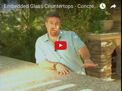 Concrete Countertops Embedded with Glass