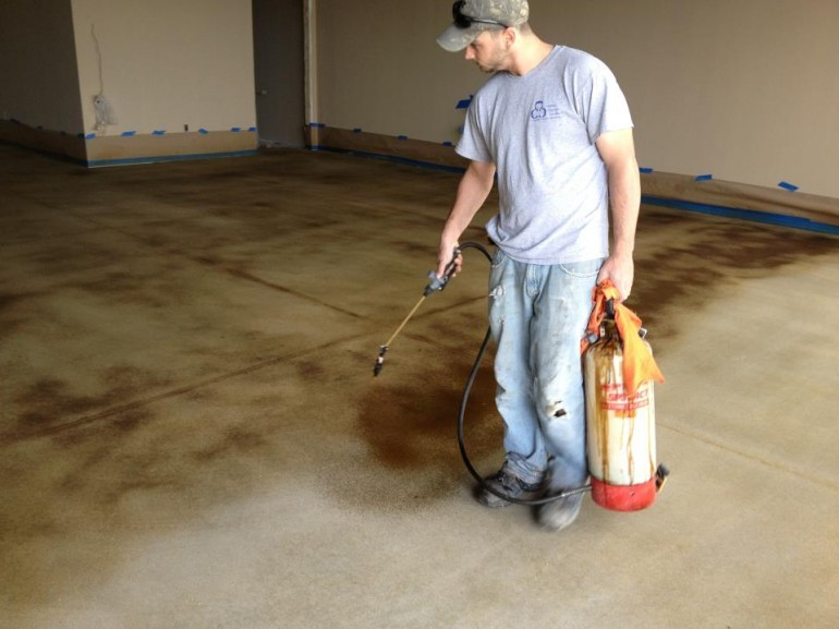 Tools for Applying Concrete Stains